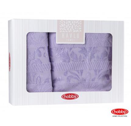 Набор полотенец Hobby Home Versal в коробке (2 предмета, лиловый)