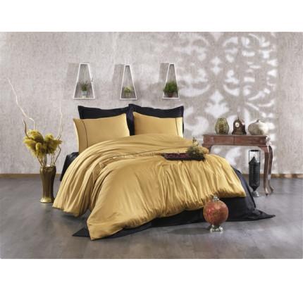 Постельное белье Grazie Home ALIX горчичный/черный евро