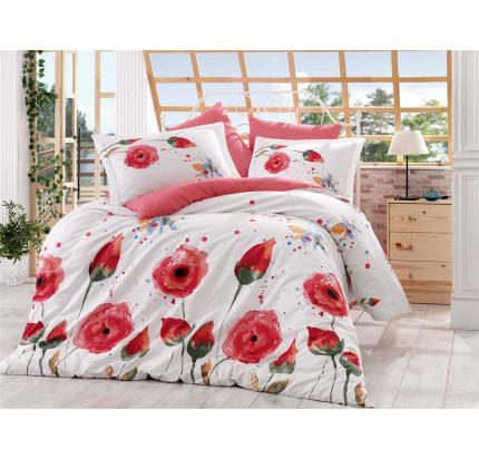 Постельное белье Hobby Home поплин Veronika (красный)