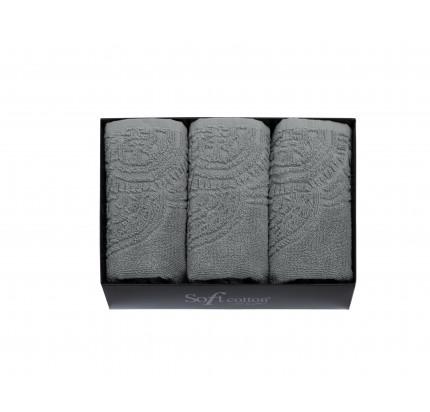 Набор салфеток Soft Cotton Circle серый (3 предмета)