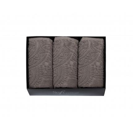 Набор салфеток Soft Cotton Circle коричневый (3 предмета)