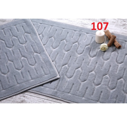 Набор ковриков Karven Yay серый (50x60+60x100)