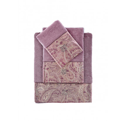 Набор полотенец Tivolyo Etto (фиолетовый) 3 предмета