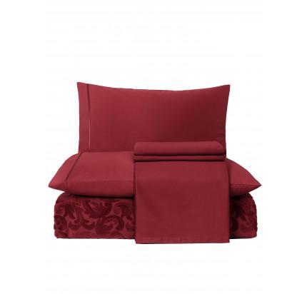 Набор с покрывалом Tivolyo Home Baroc (бордовый)
