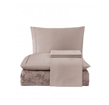 Набор с покрывалом Tivolyo Home Baroc (коричневый)