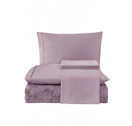 Набор с покрывалом Tivolyo Home Baroc (фиолетовый)