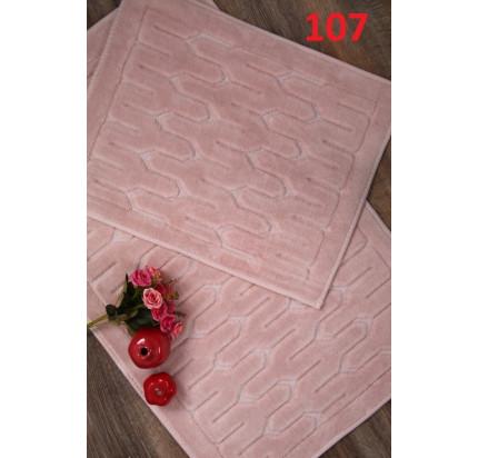 Набор ковриков Karven Yay пудра (50x60+60x100)
