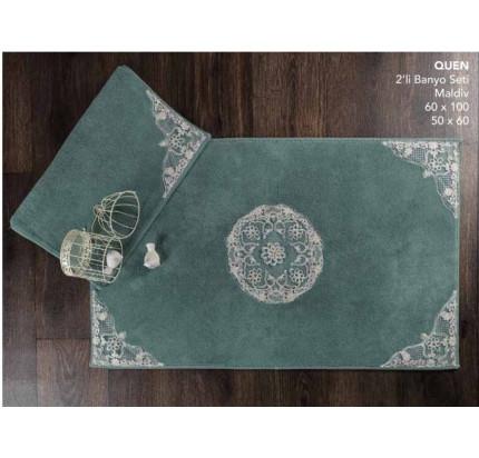 Набор ковриков Karven Quen темно-зеленый (50x60+60x100)