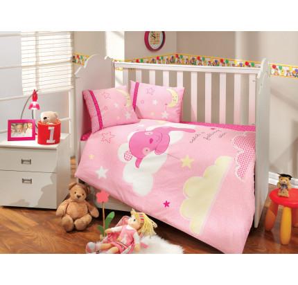 Детское белье в кроватку Hobby Home Sleeper (розовое)