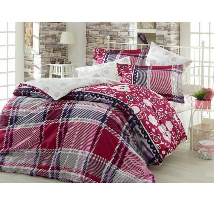 Постельное белье Hobby Home сатин Monica (бордовый)