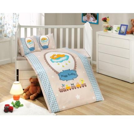 Детское белье в кроватку Hobby Home Bambam (голубое)