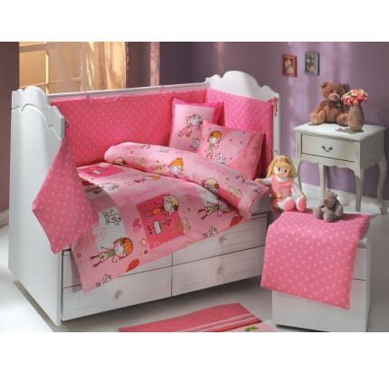 Детское белье в кроватку Hobby Home City Girl (розовое)
