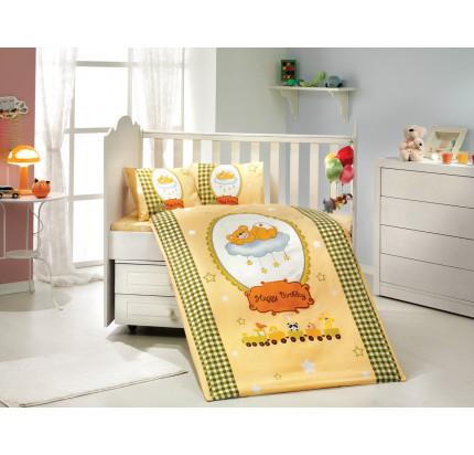 Детское белье в кроватку Hobby Home Bambam (желтое)