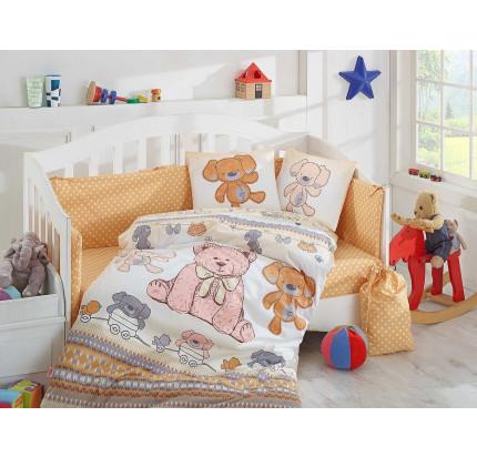 Детское белье в кроватку Hobby Home Tombik (желтое)