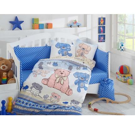 Детское белье в кроватку Hobby Home Tombik (голубое)