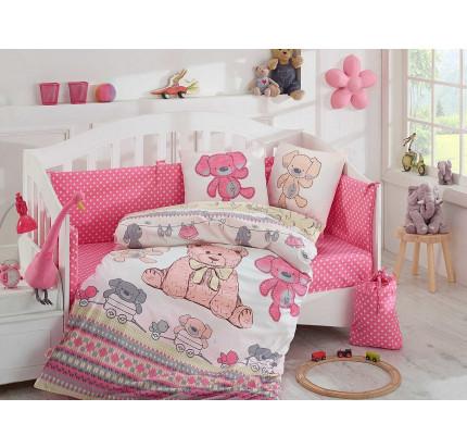 Детское белье в кроватку Hobby Home Tombik (розовый)