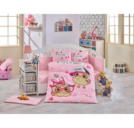 Детское белье в кроватку Hobby Home Cool Baby (розовое)