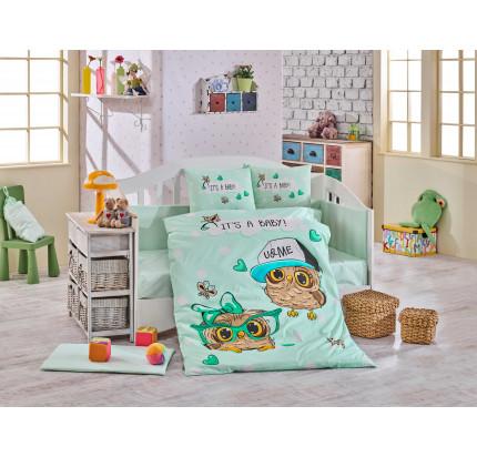 Детское белье в кроватку Hobby Home Cool Baby (минт)
