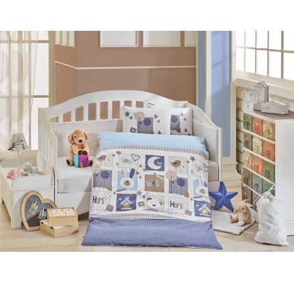 Детское белье в кроватку Hobby Home Sweet Home (синий)