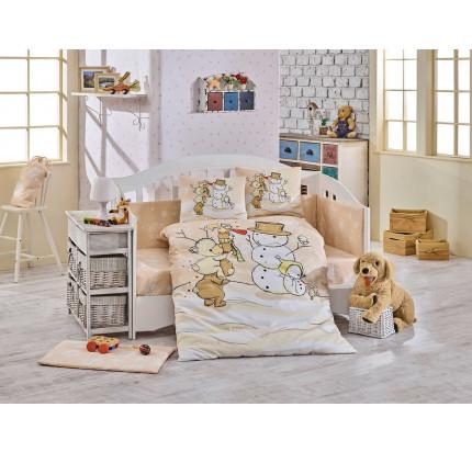 Детское белье в кроватку Hobby Home Snowball (бежевый)
