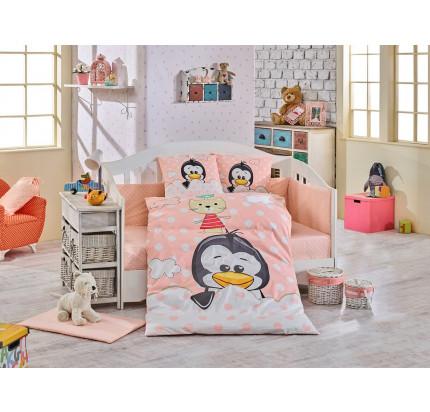 Детское белье в кроватку Hobby Home Penguin (персиковый)