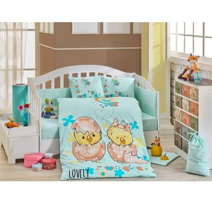 Детское белье в кроватку Hobby Home Lovely (минт)