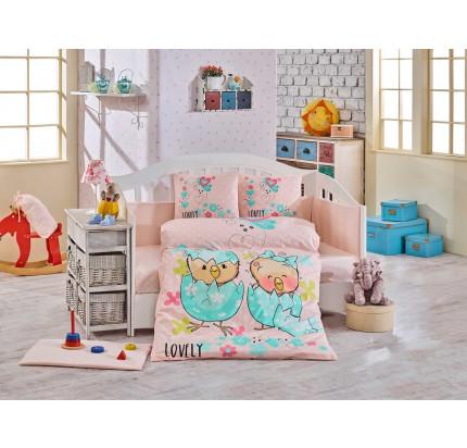 Детское белье в кроватку Hobby Home Lovely (персиковый)