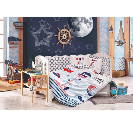 Набор в кроватку Hobby Home Baby Sailor (синий)