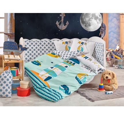 Детское белье в кроватку Hobby Home Baby Sailor (минт)