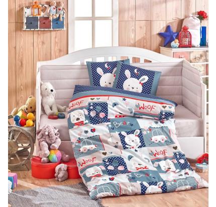 Детское белье в кроватку Hobby Home Snoopy (синий)