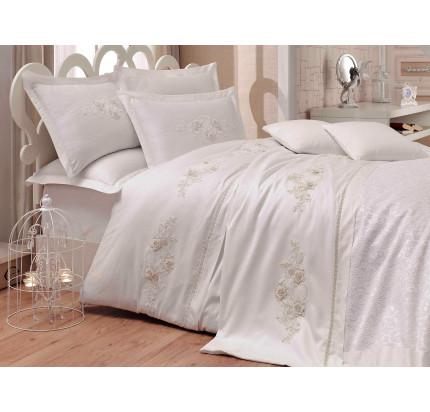 Набор постельного белья с покрывалом Hobby Home Arienda (кремовый) евро
