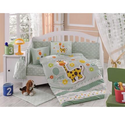 Детское белье в кроватку Hobby Home Puffy (минт)