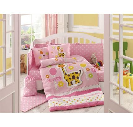 Детское белье в кроватку Hobby Home Puffy (розовое)