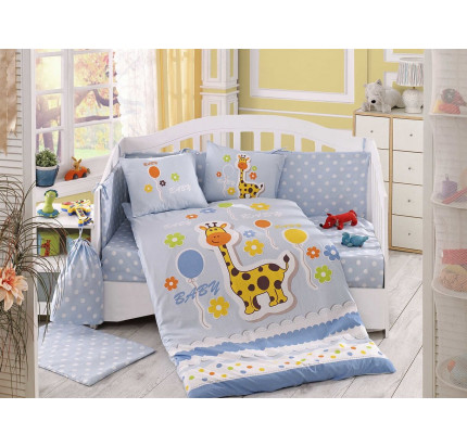 Набор в кроватку Hobby Home Puffy (голубой)
