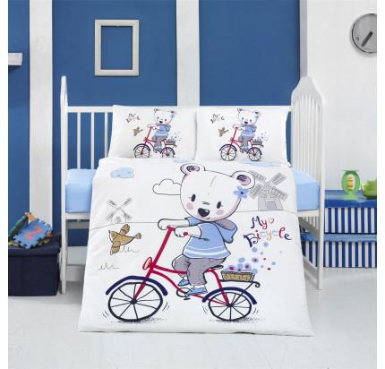 Детское белье в кроватку Arya Home My Bike