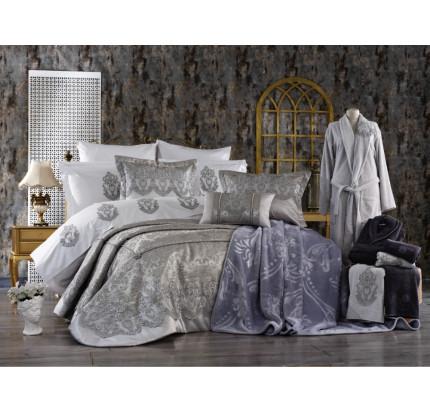 Набор с покрывалом Zebra Casa Bolero (серый) 17 предметов