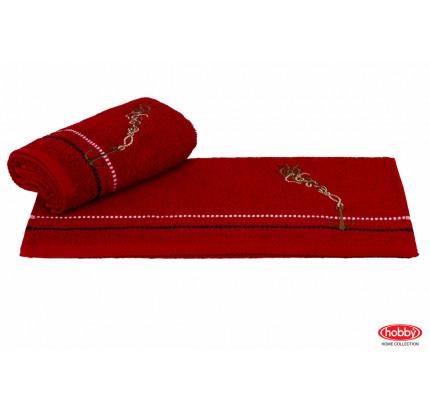 Полотенце Hobby Home Collection Marina красный якорь 50x90
