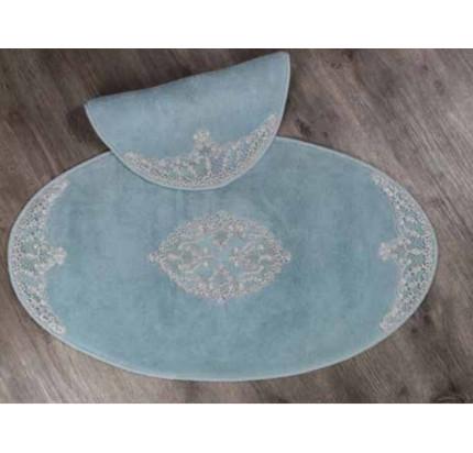 Набор ковриков Karven Tual Oval бирюзовый (50x60+60x100)