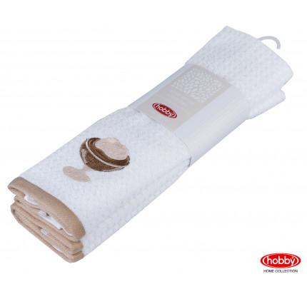 Салфетки Hobby Home Candy св.коричневый/белый (2 предмета, 40x60)