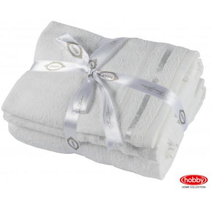 Набор полотенец Hobby Home Nisa молочный (30x50+50x90+70x140 - 3 предмета)