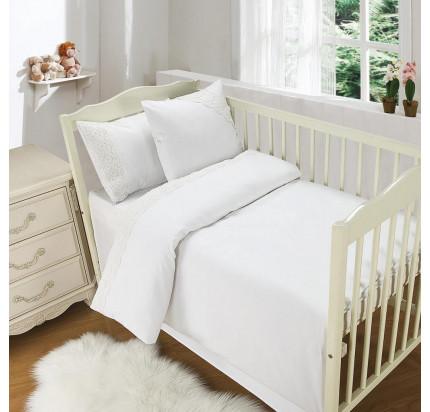 Sofi de Marko Кружево из облаков (молоко) детский комплект в кроватку