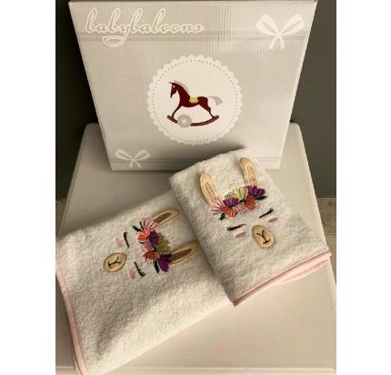 Набор полотенец La Villa de Paris Lama (2 предмета, розовый)