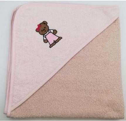 Полотенце-конверт Valtery Медвежонок (бежевый) 70x70