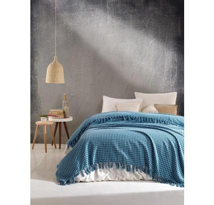 Плед Casa Lusso арт.20 (голубой) 200x220
