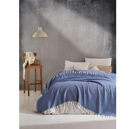 Плед Casa Lusso арт.26 (синий) 200x220
