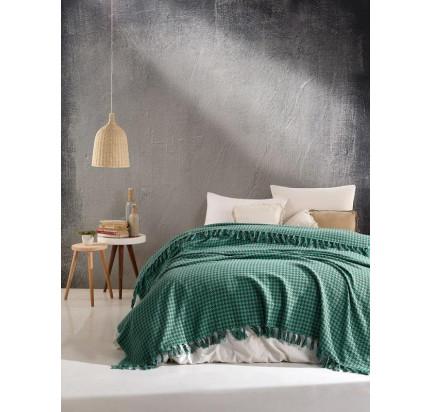 Плед Casa Lusso арт.18 (зеленый) 200x220