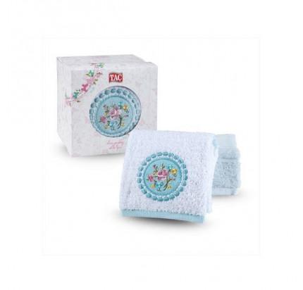 Набор полотенец TAC Lina (50x90 - 2 шт., белый-мятный)