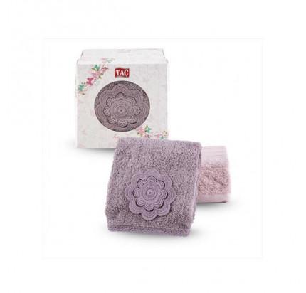 Набор полотенец TAC Lina (50x90 - 2 шт., сиреневый-розовый)