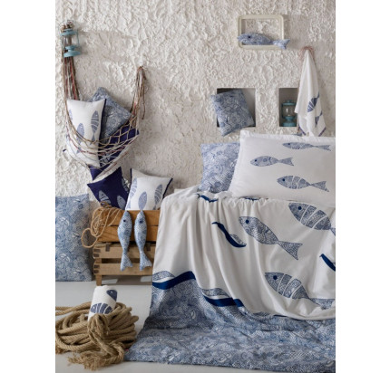 Постельное белье Hobby Home поплин Blues (голубой)