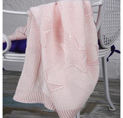 Детский плед Arya Star (розовый) 90x90
